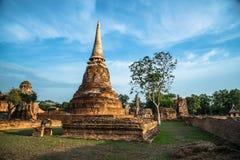 Wat Mahathat (Tempel van de Grote Overblijfselen) Stock Afbeelding