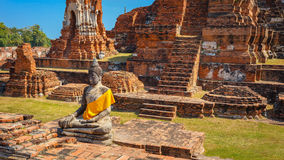 Wat Mahathat Temple in Ayuthaya Historical Park, a UNESCO world heritage site Stock Images