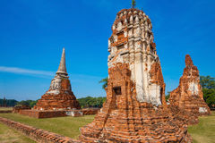 Wat Mahathat Temple in Ayuthaya Historical Park, a UNESCO world heritage site Stock Image