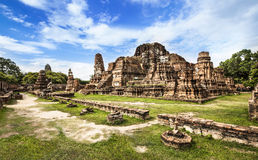 Wat Mahathat (Temple), Ayutthaya, Thailand. Unesco World Heritag Stock Images