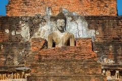Wat Mahathat Temple en el parque histórico de Sukhothai, un sitio del patrimonio mundial de la UNESCO Imagen de archivo libre de regalías