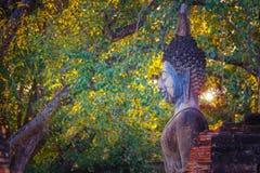 Wat Mahathat Temple en el parque histórico de Sukhothai, un sitio del patrimonio mundial de la UNESCO Imagen de archivo