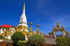 Wat Mahathat temple golden Stock Image