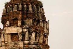 Wat Mahathat Temple Ruin Ayuthaya, Thailand Fotografering för Bildbyråer