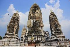 Wat Mahathat Worawihan在Ratchaburi 库存图片