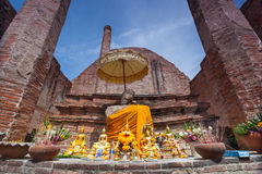 Wat Maheyong, Ayuthaya省,泰国 库存照片