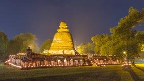 Wat Maheyong Ayutthaya som är forntida av Thailand Arkivfoton