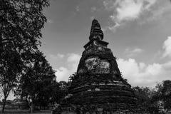 Wat Maheyong de overblijfselen van tempels, openbare ruimten in Thailand Royalty-vrije Stock Foto