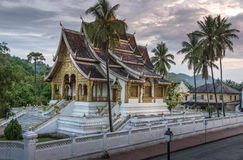 Wat Mai寺庙和修道院琅勃拉邦老挝 库存照片
