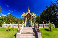 Wat Mai Khao temple. Phuket Thailand Stock Images