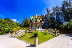 Wat Mai Khao temple. Phuket Thailand Stock Photos