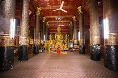 Wat Mai Suwannaphumaham Lizenzfreie Stockbilder