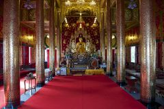 Wat Mani Phraison interior, Mae Sot, Tak province, Thailand. Royalty Free Stock Image