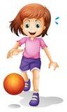 Wat meisjes speelbasketbal stock illustratie