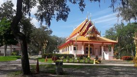 Wat Mongkolratanaram,坦帕,佛罗里达 库存照片