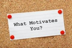 Wat motiveert u? Stock Foto's