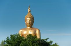 Wat muang ang thong. Big Buddha at Wat Muang Royalty Free Stock Image