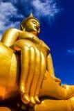 Wat Muang Ang Thong. Big Golden Buddha with sky at Wat Muang, Ang Thong Province, thailand Thus is a public area Stock Image