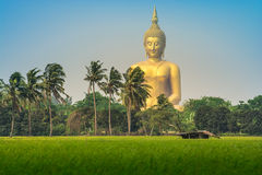 Wat muang ang thong thailand Temple Stock Photo