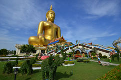 Giant Buddha image in Thailand Stock Photos