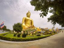 Wat Muang @Ayuttha, Thailand Arkivfoton