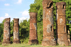 Ruined Pillars at Wat Mum Lanka Stock Image