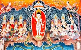 Wat mural phrabahtseeroy, chiangmai Tailandia de Budha Imágenes de archivo libres de regalías
