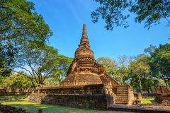 Wat Nang Phaya en el parque histórico del Si Satchanalai en Sukhothai, Tailandia Fotos de archivo libres de regalías