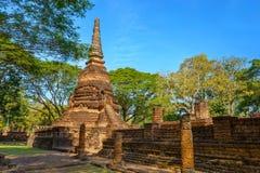 Wat Nang Phaya en el parque histórico del Si Satchanalai en Sukhothai, Tailandia Foto de archivo libre de regalías