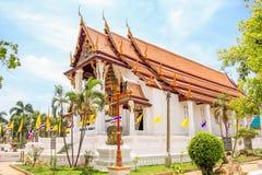 Wat Nha Pra mhen - Ayutthaya Thailand Royaltyfri Fotografi