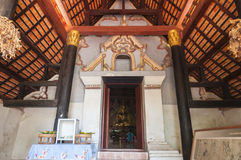 Wat nhong buo和泰国修士村庄 免版税库存图片