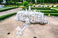 Wat Nicotharam Suphanburi at miniature park is an open space that displays miniature buildings and models. PATTAYA CITY, CHONBURI PROVINCE, THAILAND. – royalty free stock images