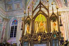 Wat Nivet Thammapravat es templo del budismo adornado en la iglesia AR Fotografía de archivo libre de regalías