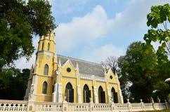Wat Niwet Thammapraw阿尤特拉利夫雷斯泰国 图库摄影