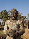 Wat Nokor temple protector statue Stock Photo