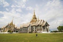Wat Non Kum Temple Nakhon Ratchasima, Thailand Arkivbild