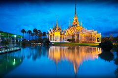 Wat None Kum. At dusk, Nakhon Ratchasima province Thailand Royalty Free Stock Photography