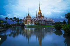 Wat None at sunset, Nakhon Ratchasima province. Thailand stock photo