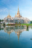 Wat None. Thai temple building in Nakornrajasima stock image