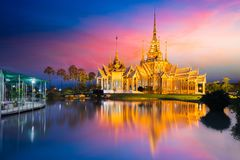 Wat None. At dusk, Nakhon Ratchasima province Thailand stock images
