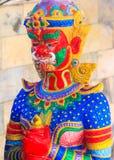 Wat Nong Hoi寺庙的五颜六色的邪魔 免版税库存图片
