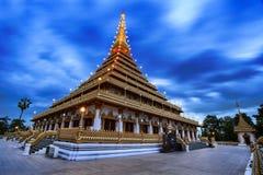 Wat Nong Waeng et ciel bleu chez Khon Kaen, Thaïlande image libre de droits