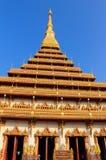 Wat Nong Waeng i Khonkaen Royaltyfria Bilder