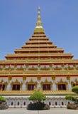 Wat Nong Waeng Khonkaen Thailand Arkivfoton