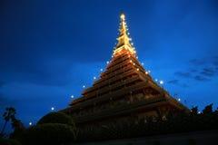 Wat Nong Waeng (Temple), Khonkaen Province.,Thailand. 6.53 pm Stock Images
