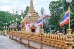 Wat Nong Wang寺庙美好的风景在Khon Kaen,泰国 库存照片