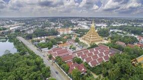 Wat Nong Wang寺庙, Khonkaen泰国 库存照片