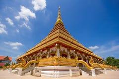 Wat Nong Wang (Phra Mahathat Kaen Nakhon) Photographie stock