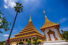 Wat Nong Wang (Phra Mahathat Kaen Nakhon) fotografia stock libera da diritti