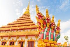Wat Nong Wang tempel Royaltyfria Bilder